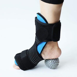 Wow Sportz Enhanced with ball / Free Size Drop Foot Brace Adjustable Plantar Fasciitis Dorsal Night Splint Foot Support Ankle Stabilizer Orthotic Foot Pain Relief