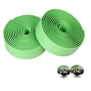 Wow Sportz green 2pcs Multi-functional Bicycle Handlebar Tape Steering Wheel Cover Road Bike Cycling Handle Non-slip Belt Rubber Tape