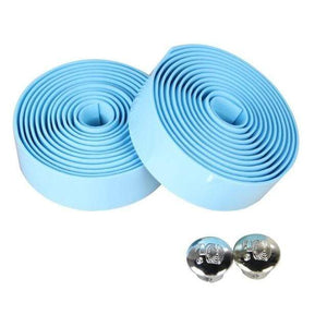 Wow Sportz light blue 2pcs Multi-functional Bicycle Handlebar Tape Steering Wheel Cover Road Bike Cycling Handle Non-slip Belt Rubber Tape