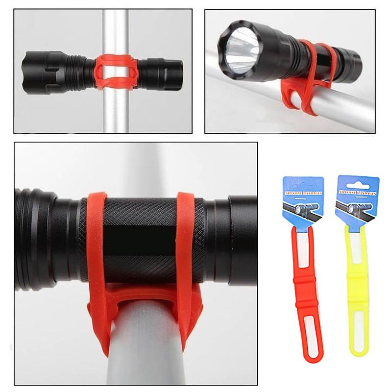 Wow Sportz MTB Bicycle Silicone Strap Handlebar Flashlight Strap Universal Bike Front Light Handle Bar Holder Bandage Bicycle Accessories