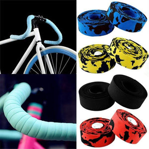 Wow Sportz Multi-functional Bicycle Handlebar 2pcs Multi-functional Bicycle Handlebar Tape Steering Wheel Cover Road Bike Cycling Handle Non-slip Belt Rubber Tape