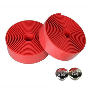 Wow Sportz red Multi-functional Bicycle Handlebar 2pcs Multi-functional Bicycle Handlebar Tape Steering Wheel Cover Road Bike Cycling Handle Non-slip Belt Rubber Tape