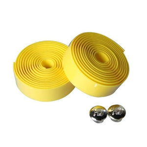 Wow Sportz yellow 2pcs Multi-functional Bicycle Handlebar Tape Steering Wheel Cover Road Bike Cycling Handle Non-slip Belt Rubber Tape