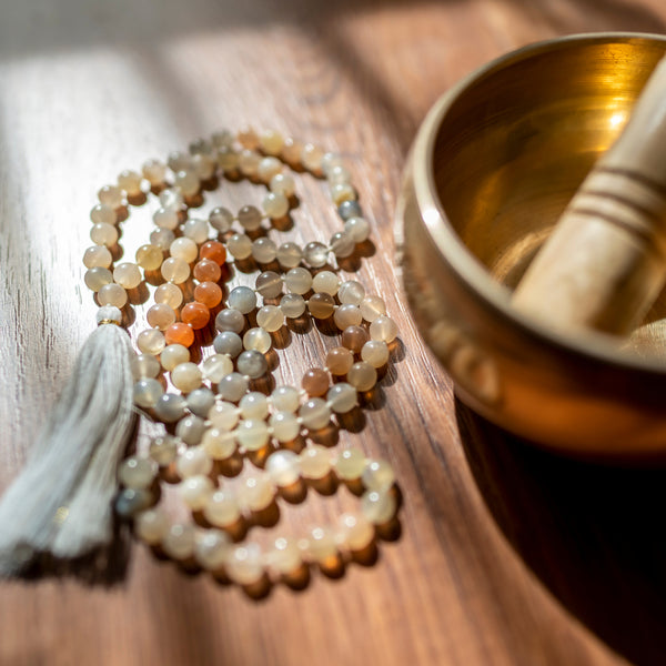 Meditation Boutique- Mala Beads- Mala beads are a meditation tool that many use to stay focused and keep count of mantras during a meditation practice. Mala beads are typically made up of 108 beads, a guru bead and a tassel.