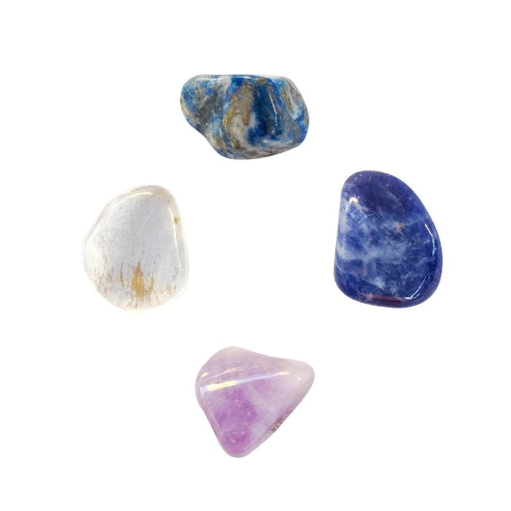 Healing Crystals: Amethyst, Lapis Lazuli, Sodalite and Clear Quartz, Trust Your Intuition, Crystals for Intuition, With or Without Reiki