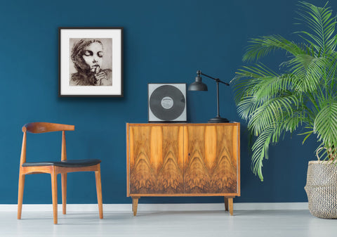 Jesse Leroy Smith limited edition etching shown in situ