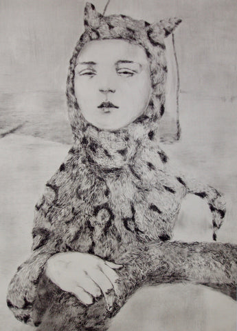 Jesse Leroy Smith - limited edition drypoint etching for sale