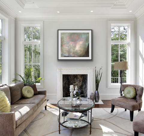 Painting by contemporary woman artist, Rachel Redfern, shown in situ