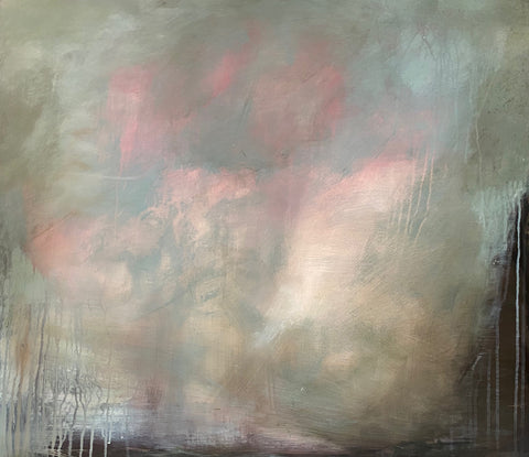 Abstract landscape painting by contemporary, woman artist Rachel Redfern