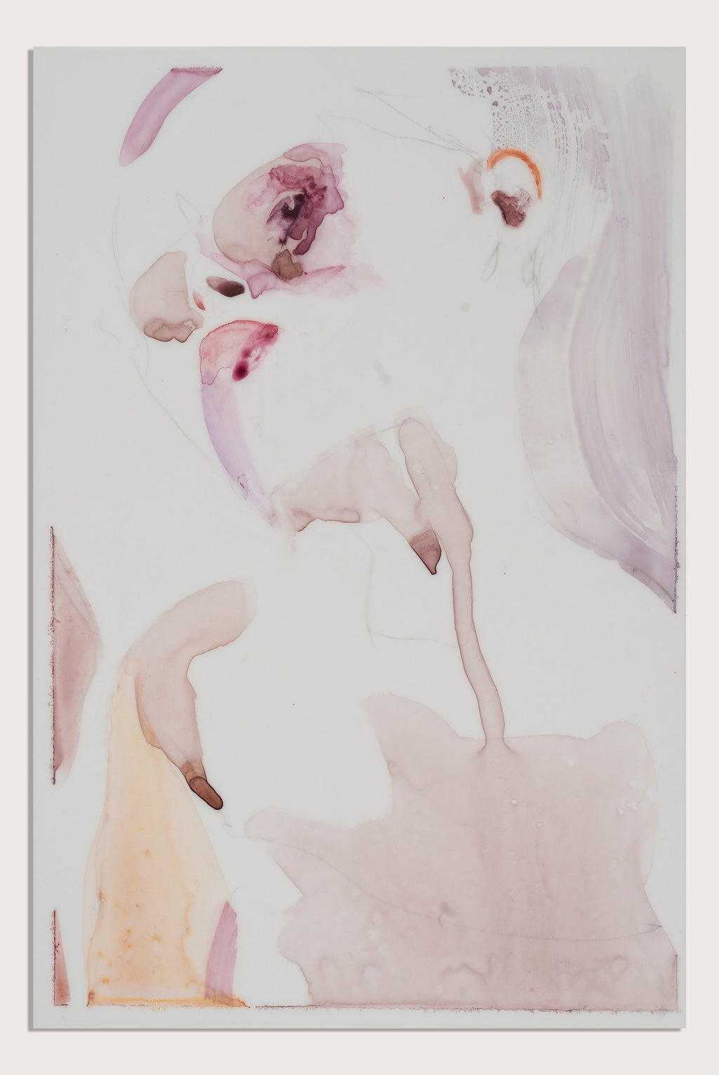 'Surface II', a figurative painting on translucent paper by woman artist Alex Roberts