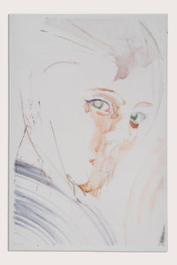 'Surface VI', a figurative painting on translucent paper by woman artist Alex Roberts
