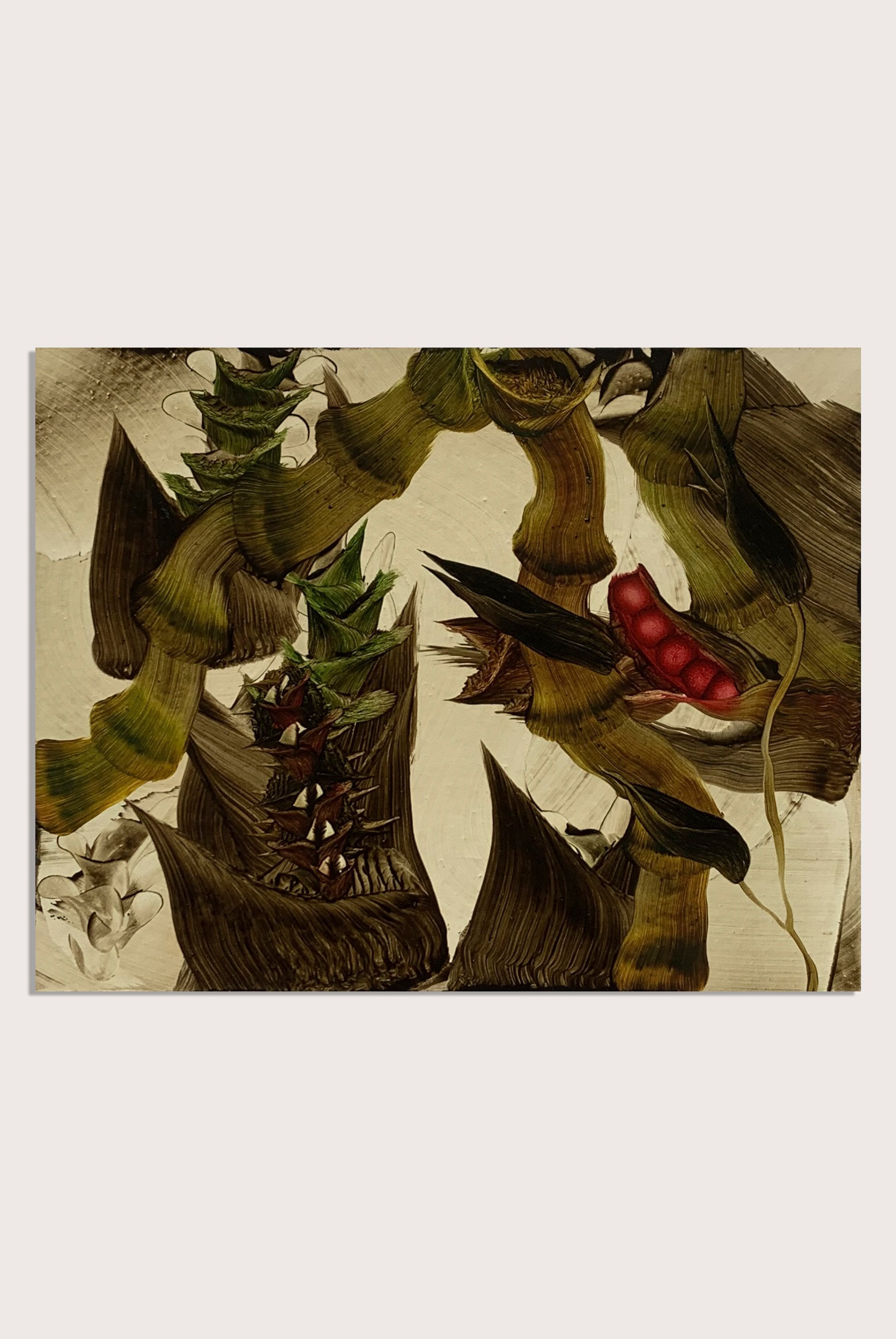 'Retreat' a botanical oil painting by contemporary artist Andy Harper RCA