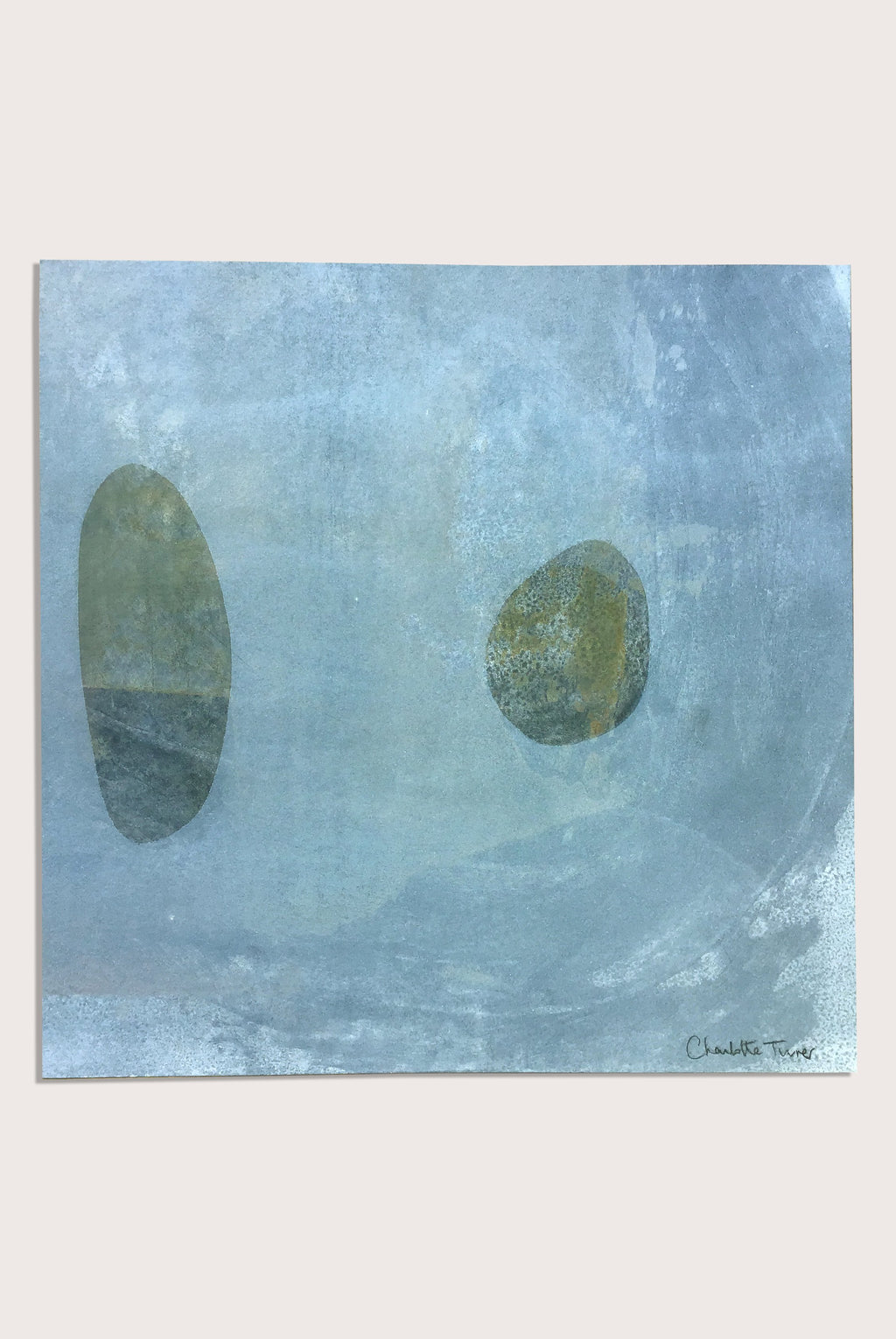 'Beach Studies 3', a littoral  painting by contemporary, woman artist Charlotte Turner