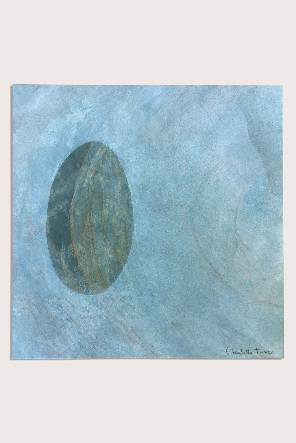 'Beach Studies 4', a littoral  painting by contemporary, woman artist Charlotte Turner