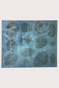 'Resonance 1', a littoral  painting by contemporary, woman artist Charlotte Turner