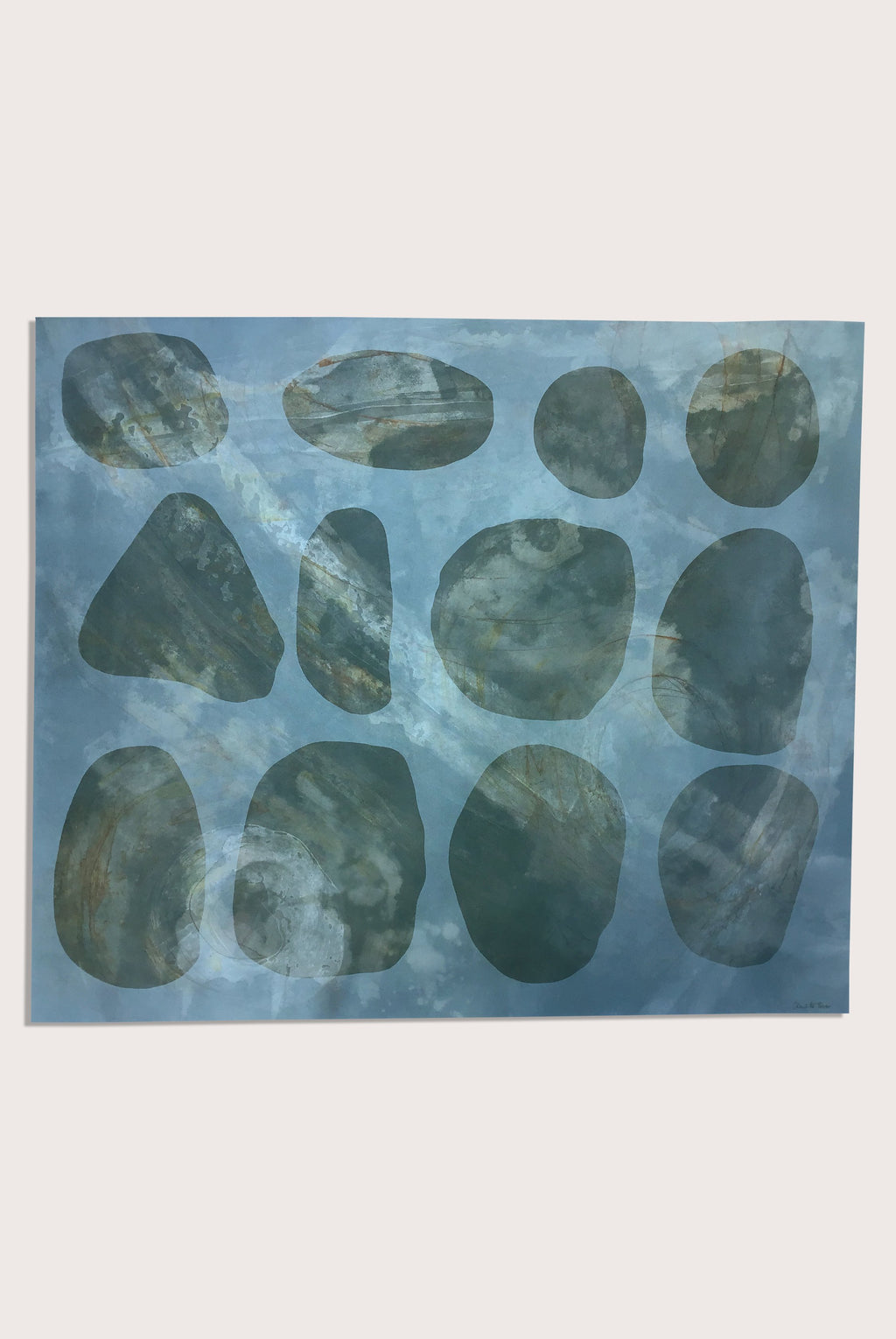 'Resonance 2', a littoral painting by contemporary, woman artist Charlotte Turner