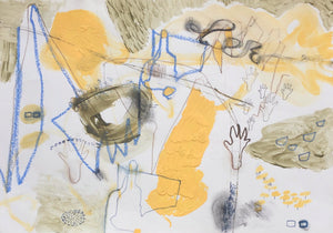 'Deep Mapping IV: Loose Rock', a new landscape painting and drawing by woman artist Faye Dobinson