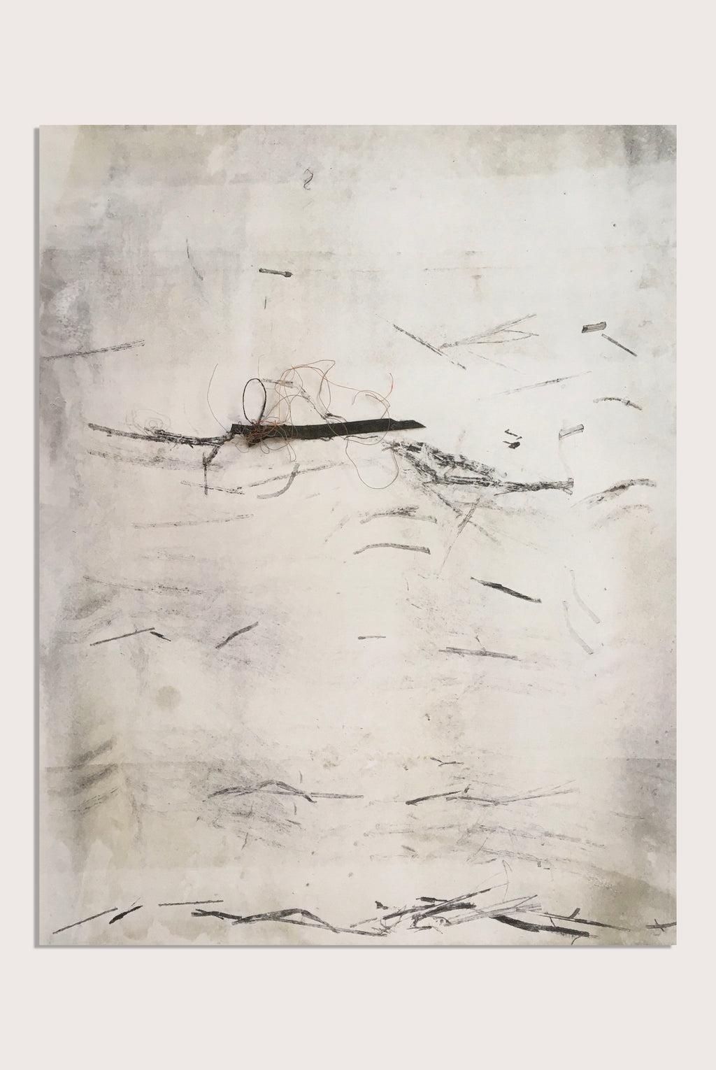 An abstract drawing by contemporary, woman artist Frances Gynn