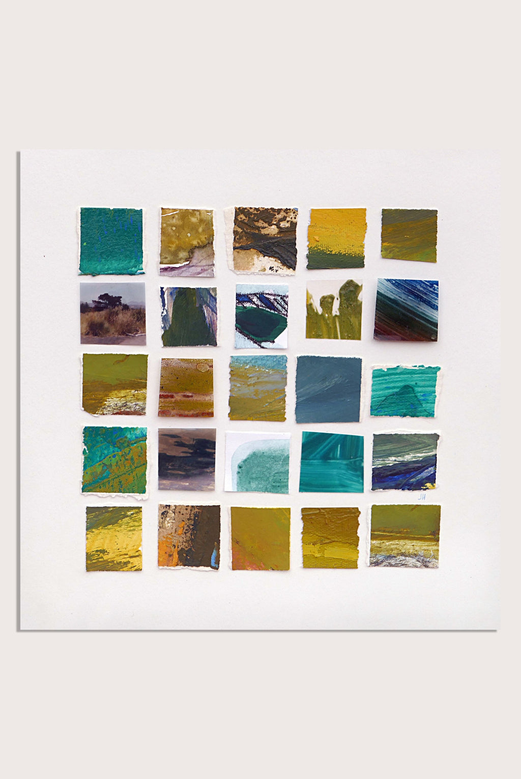 Abstract, mini landscapes by contemporary, woman artist Jane Hodgson