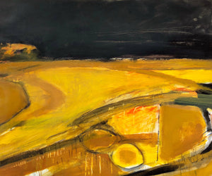 An expressive, abstract landscape by contemporary, woman artist Jane Hodgson