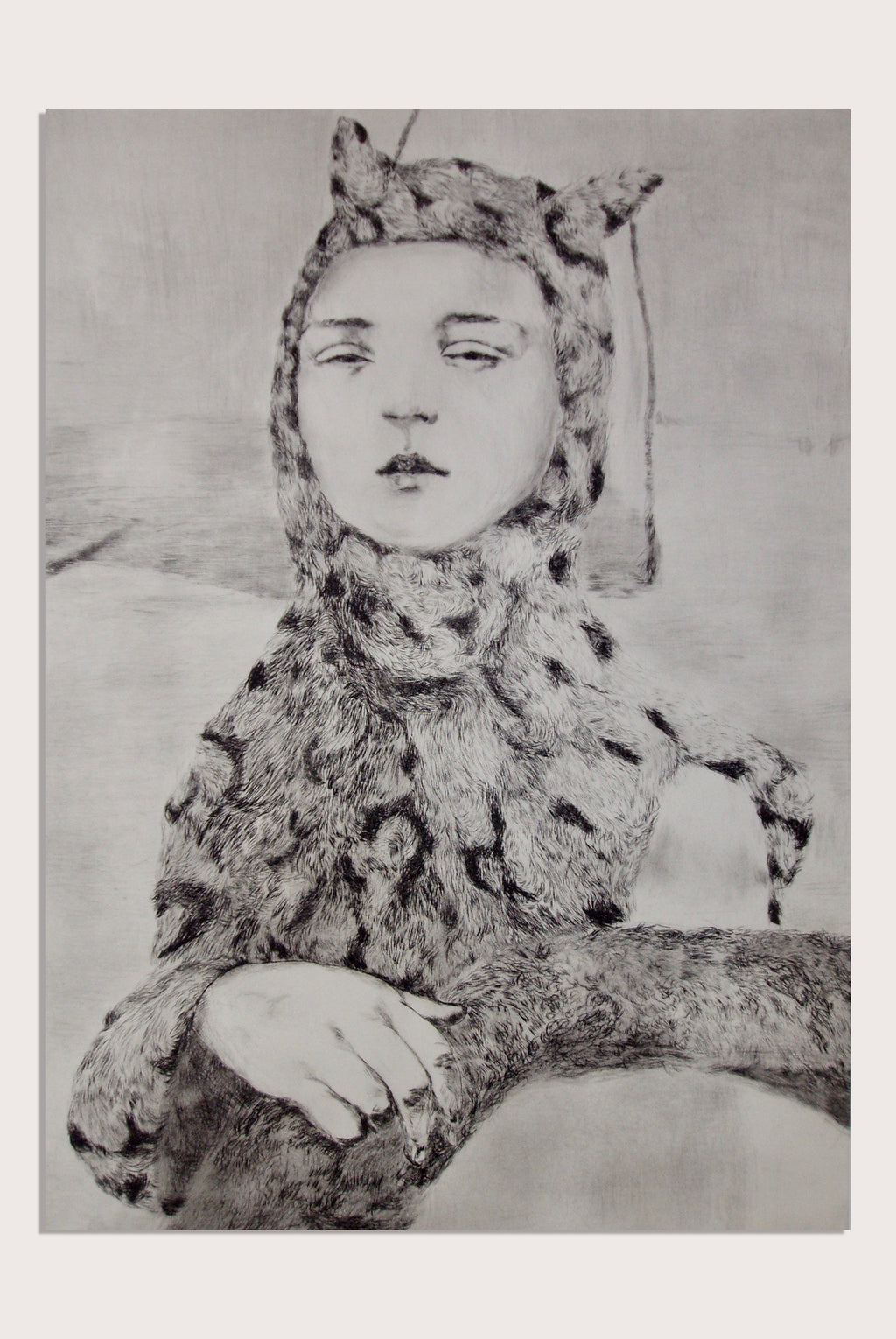 'Leopard', a limited edition, figurative etching by contemporary artist Jesse Leroy Smith