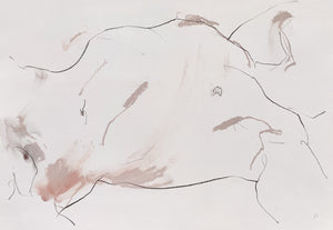 'If You've Ever Known Longing This Is It', an expressive life-drawing by contemporary, woman artist Katherine Sheers