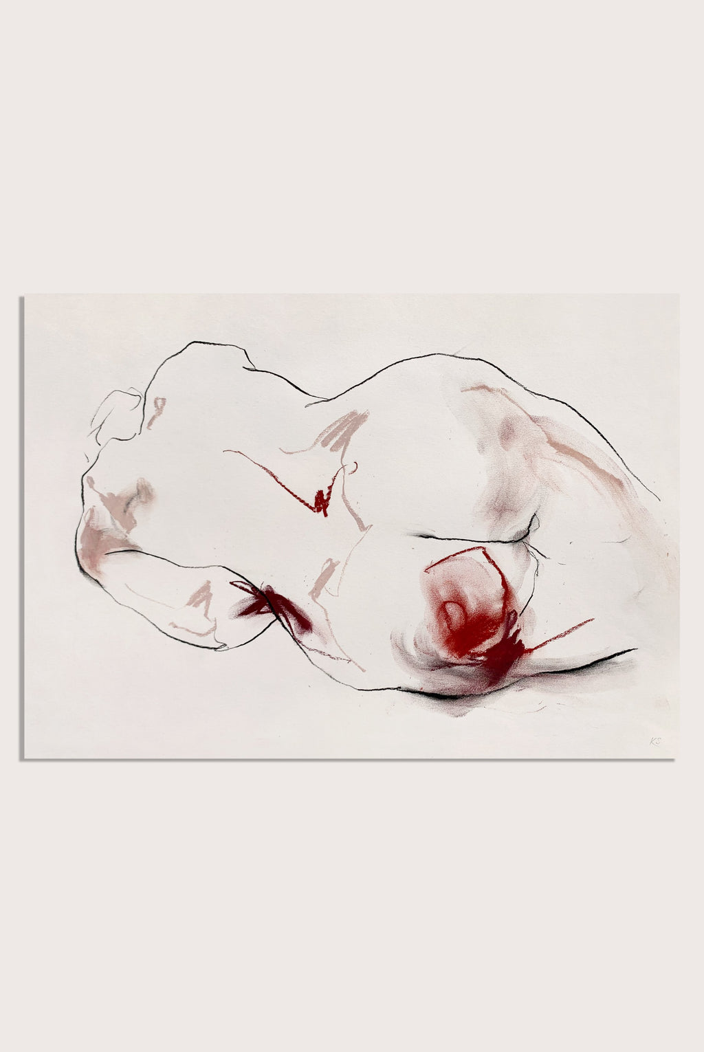 'Love Becomes You', an expressive life-drawing by contemporary, woman artist Katherine Sheers