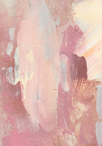 Detail of 'Medina Marrakesh I', an abstract painting by contemporary, woman artist Katherine Sheers