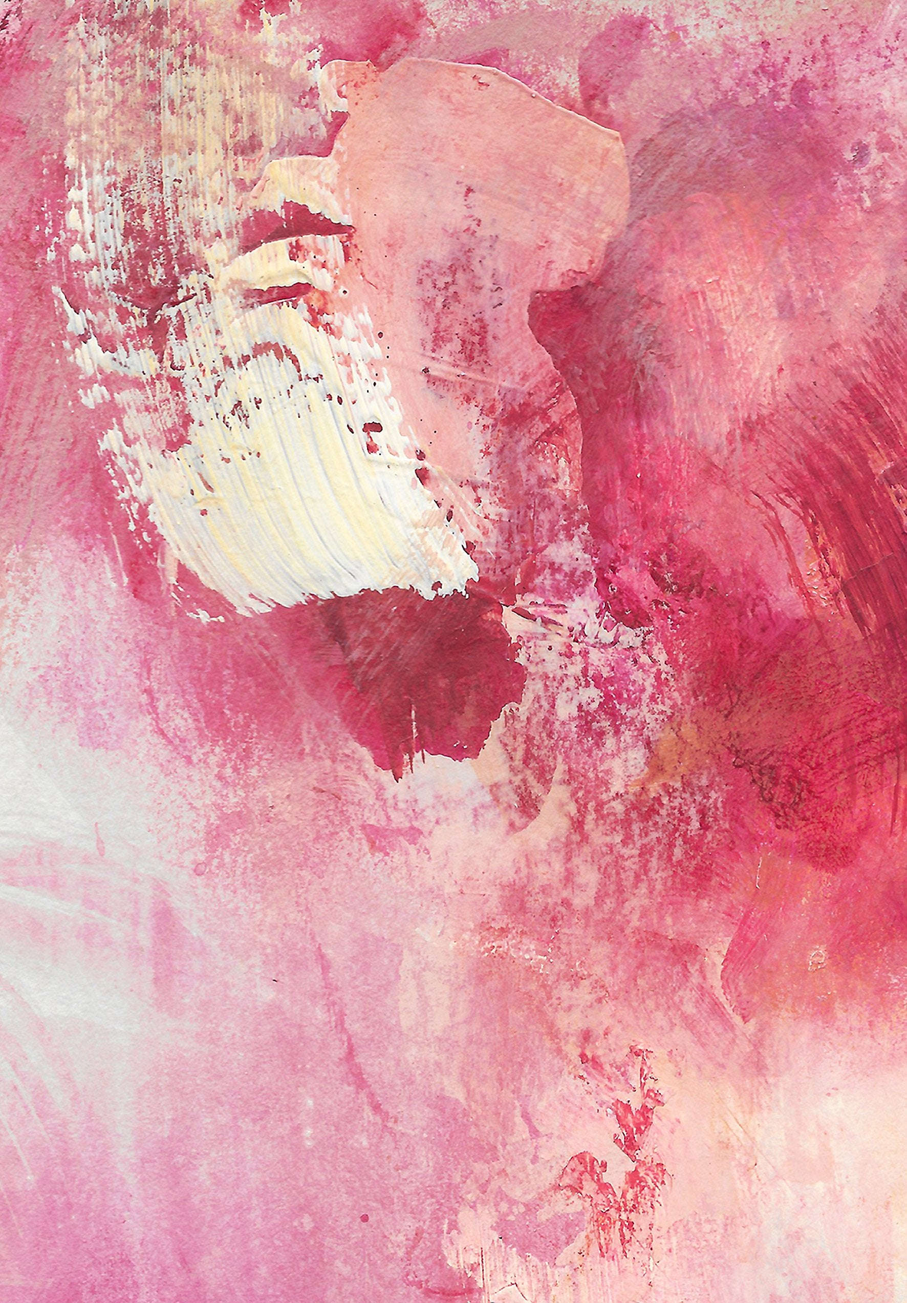 Detail of 'Medina Marrakesh VI', an abstract painting by contemporary, woman artist Katherine Sheers