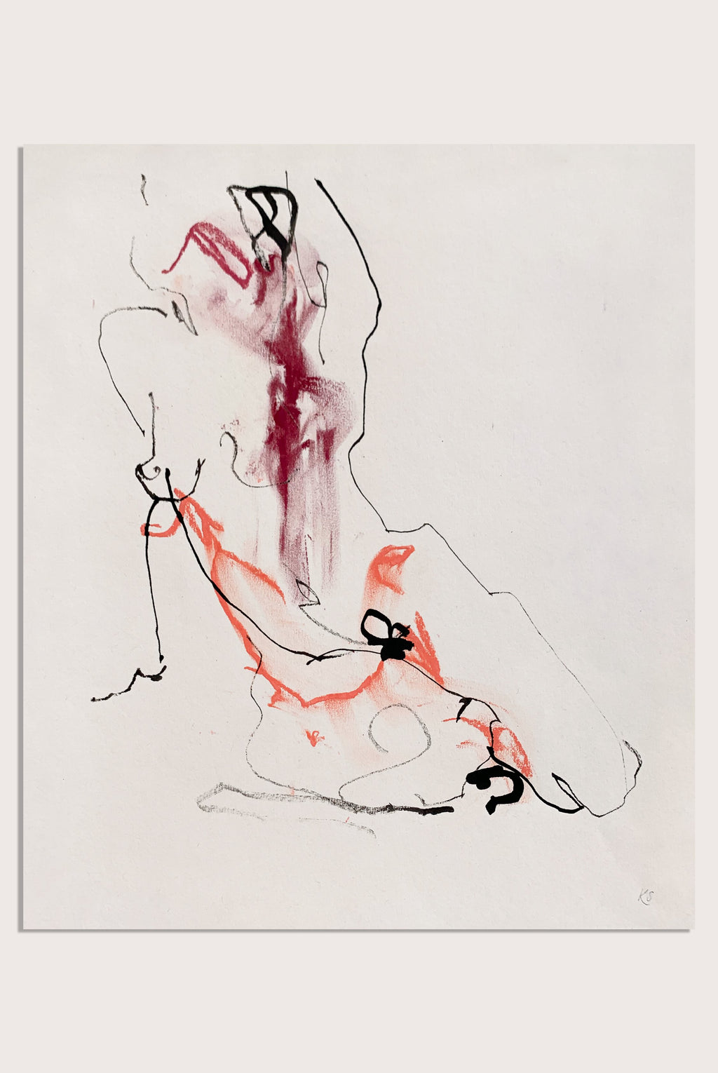 'What Lives Within Me', a life drawing by contemporary, woman artist Katherine Sheers