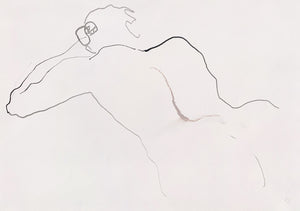 A minimalist life drawing by contemporary, woman artist Katherine Sheers