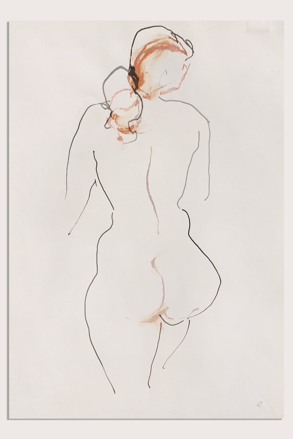 'Your Scent In My Hair', a life drawing by contemporary, woman artist Katherine Sheers