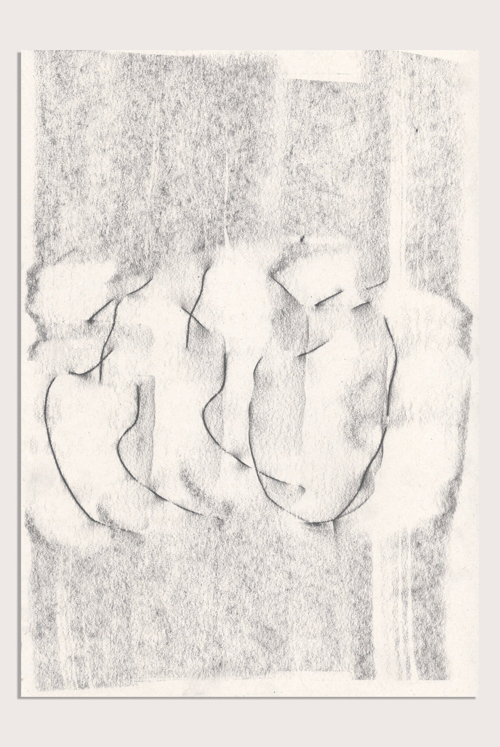 'Fleeting II', an abstract drawing by contemporary, woman artist Kayleigh Harris