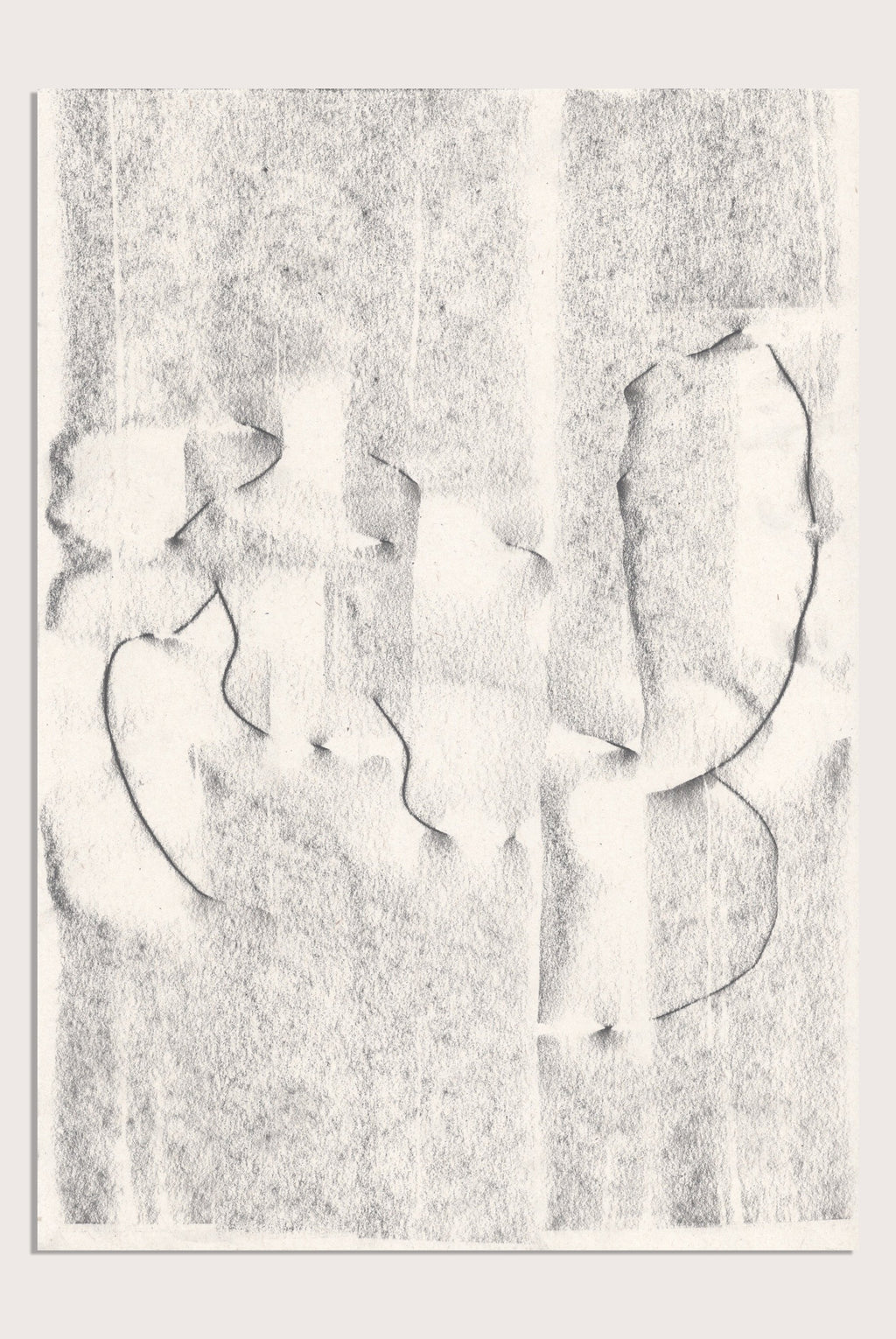 'Fleeting III', a minimalist, abstract drawing by contemporary, woman artist Kayleigh Harris