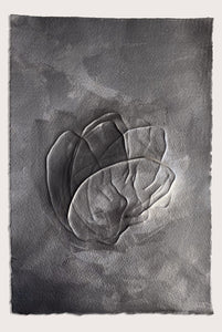 'Reflective Graphite III', a minimalist, abstract drawing by contemporary, woman artist Kayleigh Harris