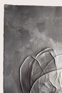 Detail of 'Reflective Graphite III', a minimalist, abstract drawing by contemporary, woman artist Kayleigh Harris