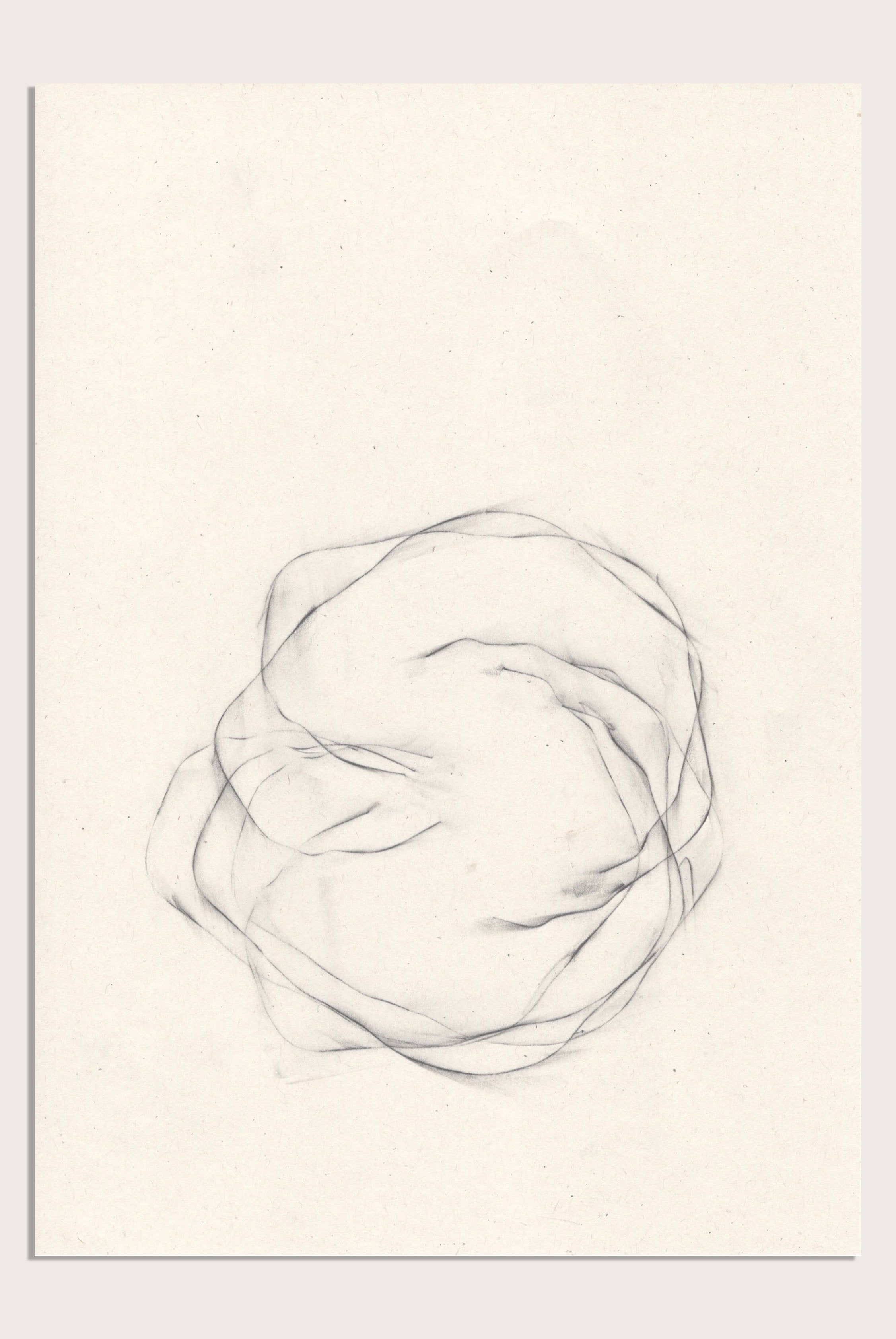 'Unsettled II', a minimalist drawing by contemporary, woman artist, Kayleigh Harris