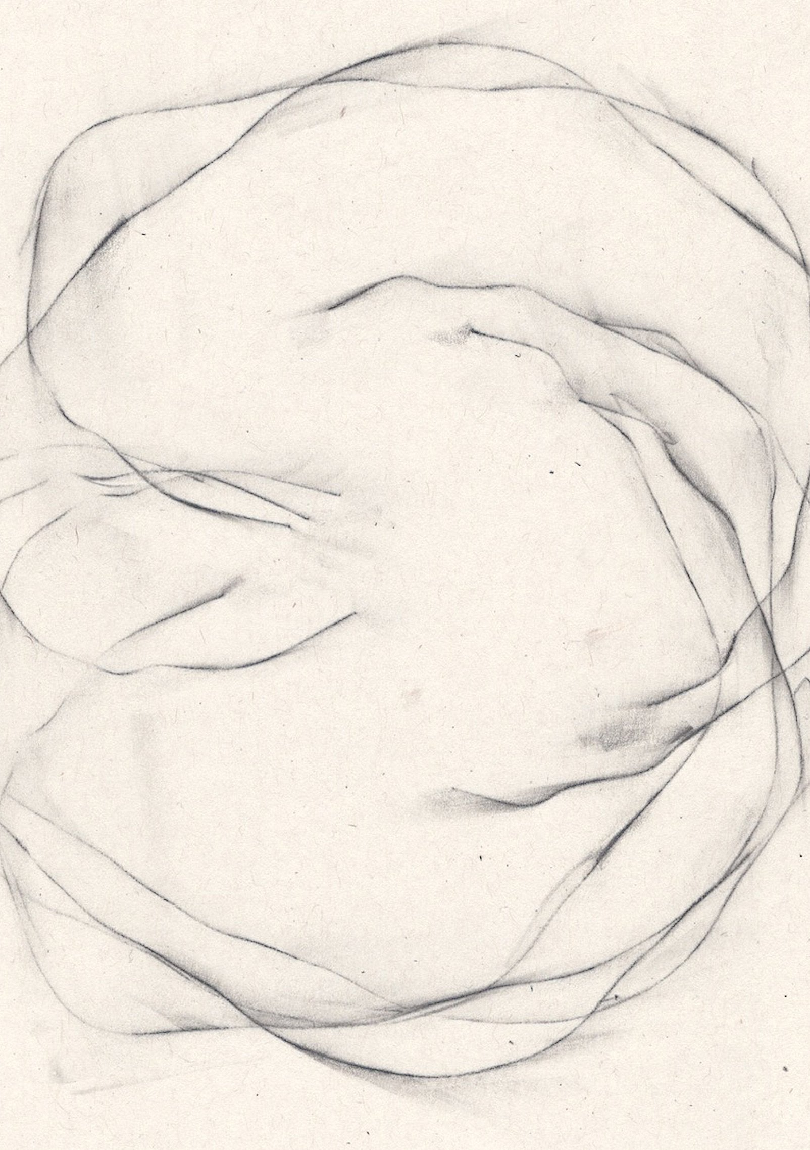 Detail of 'Unsettled II', a minimalist drawing by contemporary, woman artist, Kayleigh Harris