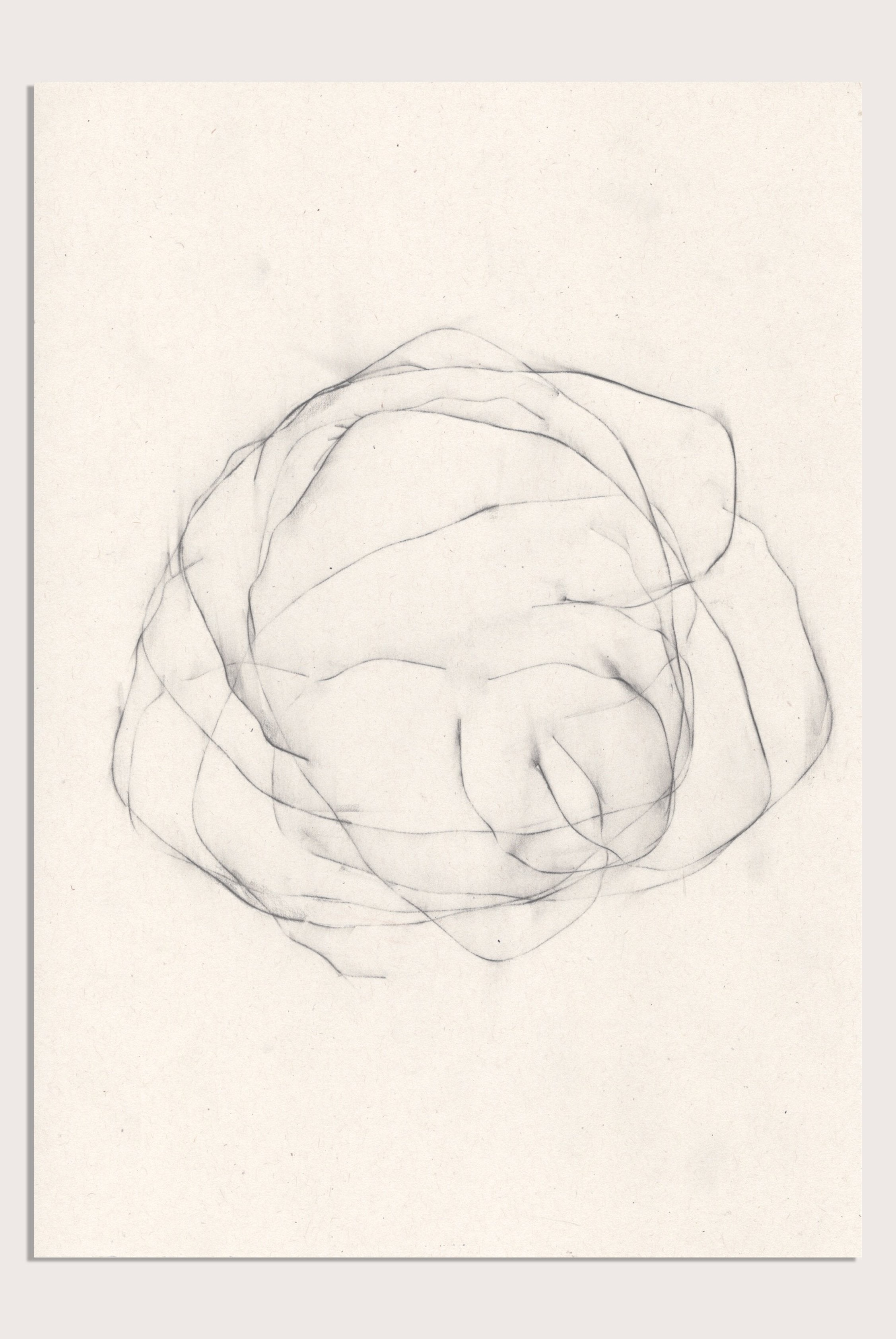 'Unsettled X', an abstract, minimalist drawing by contemporary emerging artist Kayleigh Harris