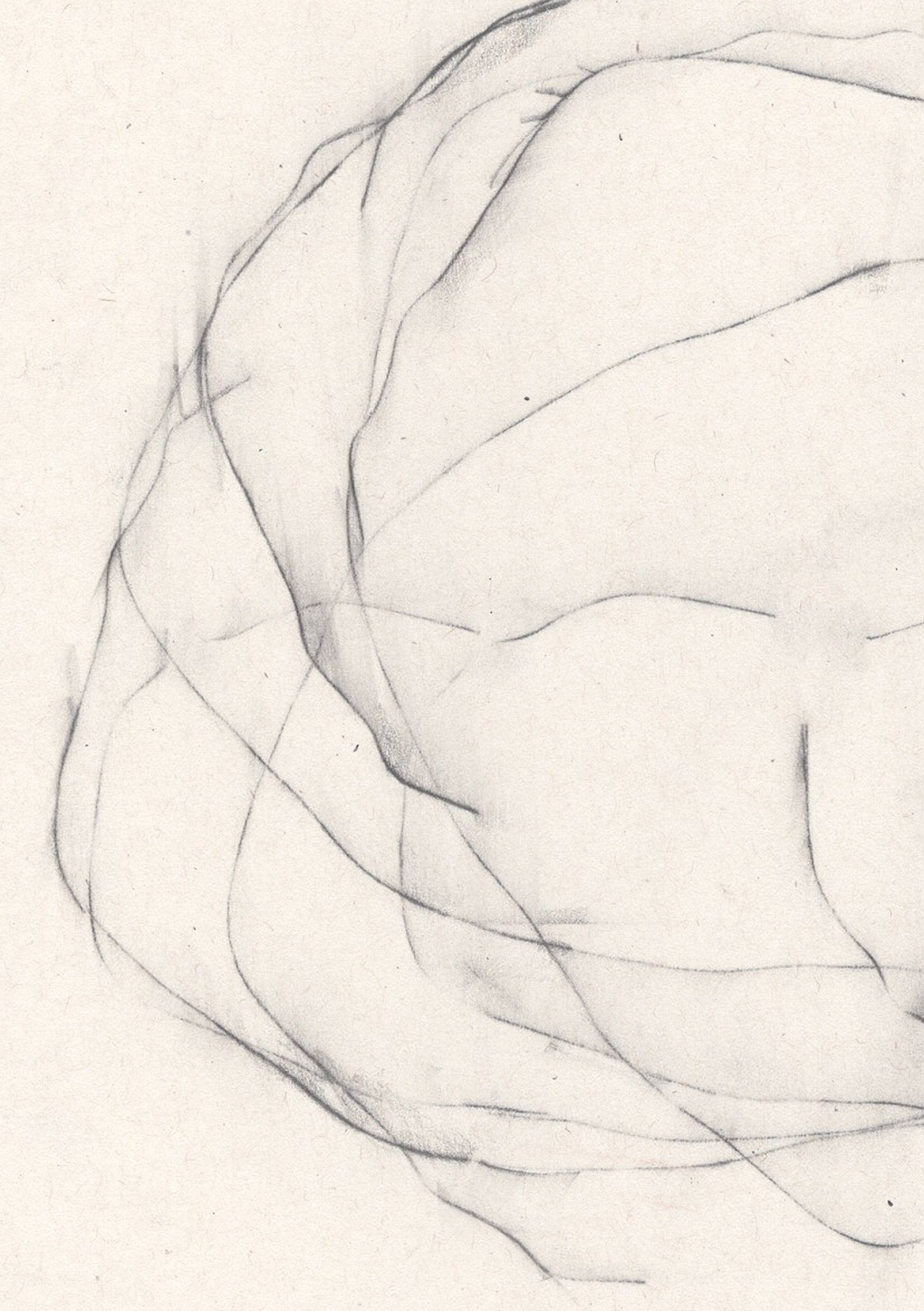 Detail of 'Unsettled X', an abstract, minimalist drawing by contemporary emerging artist Kayleigh Harris