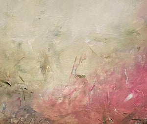 Detail of 'Heaven's Gaze I', an abstract expressionist landscape painting on paper by contemporary woman artist Rachel Redfern