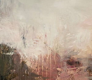Detail of 'Heaven's Gaze II', an abstract expressionist landscape painting on paper by contemporary woman artist Rachel Redfern