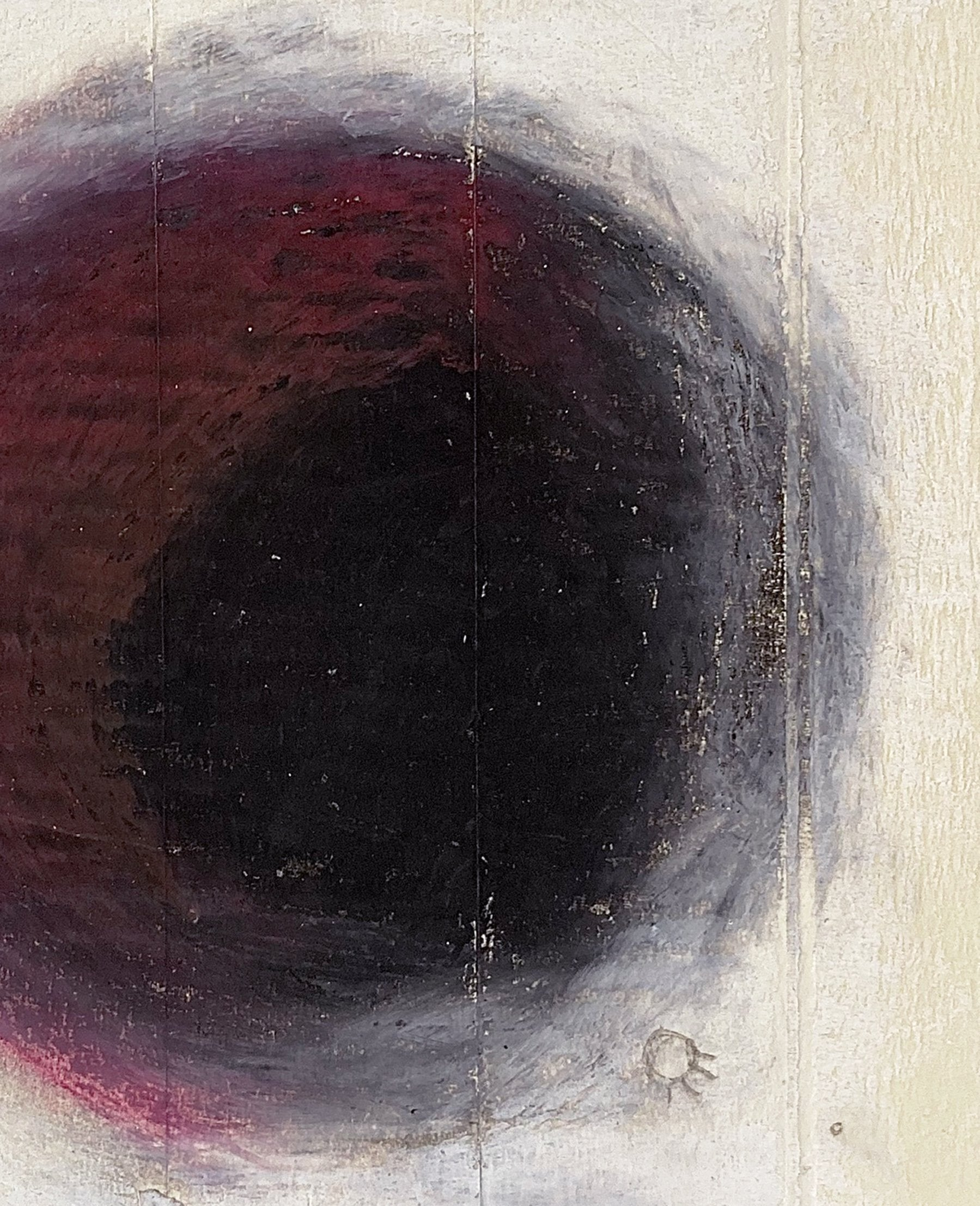 Detail of 'Shut The Fuck Up', an abstract artwork by contemporary artist Steven James Tunney