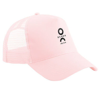 O Beach Black Embroidered Logo Trucker Cap-Cap-O Beach Ibiza