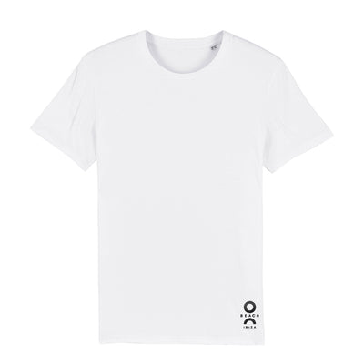 O Beach Black Embroidered Logo Men's Organic T-Shirt-T-Shirt-O Beach Ibiza