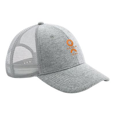 O Beach Orange Embroidered Logo Athletic Trucker Cap-Cap-O Beach Ibiza