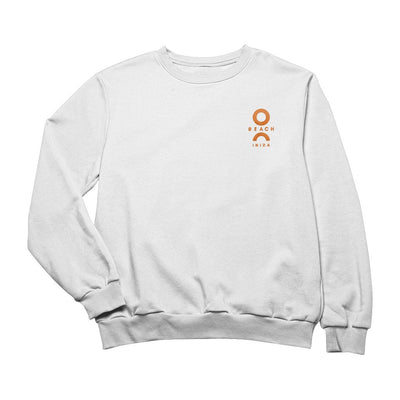 O Beach Orange Embroidered Logo Sweatshirt-Sweatshirt-O Beach Ibiza