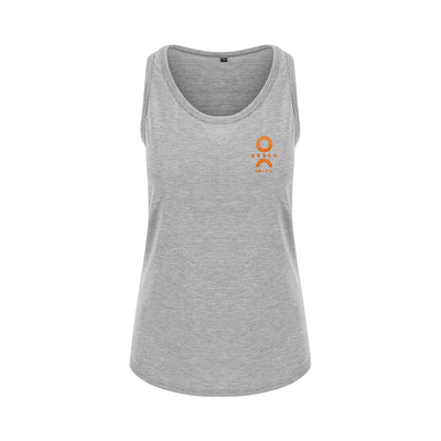 O Beach Orange Embroidered Logo Women's Classic Scoop Vest-Vest-O Beach Ibiza