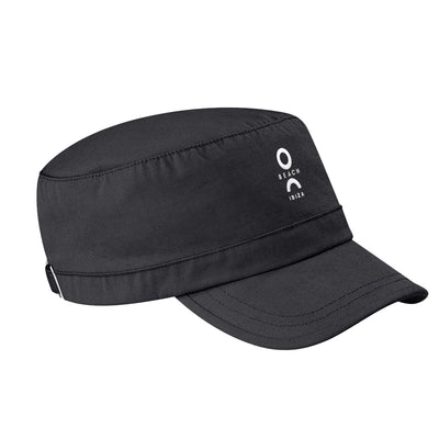 O Beach White Embroidered Logo Army Cap-Cap-O Beach Ibiza