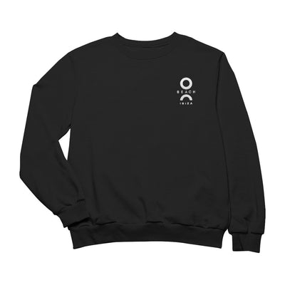 O Beach White Embroidered Logo Sweatshirt-O Beach Ibiza Store